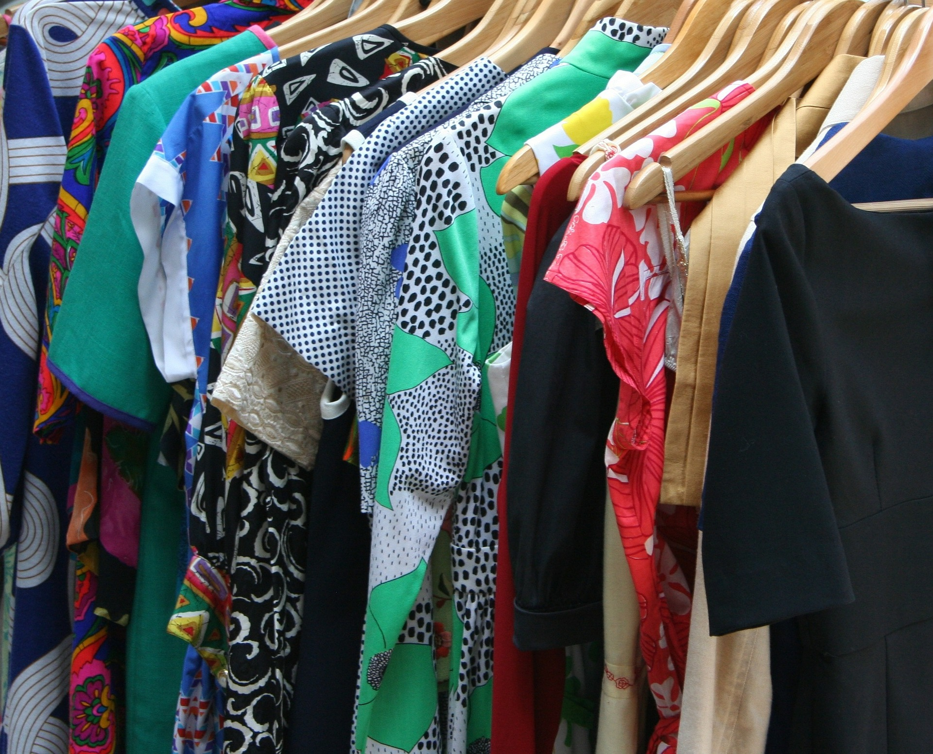 A clothing swap is shopping at your friends' closets